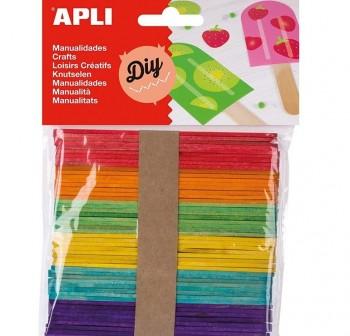 APLI Bolsa de 50 palos de polo colores
