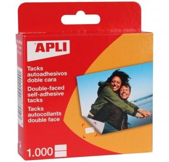 Caja Dispensadora 1000 tacks autoAdhesivos doble cara APLI 12x16mm