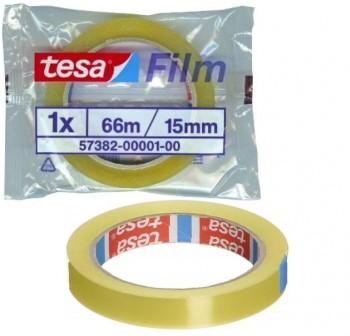 Cinta adhesiva tesafilm Standard 66mx15mm en bolsita