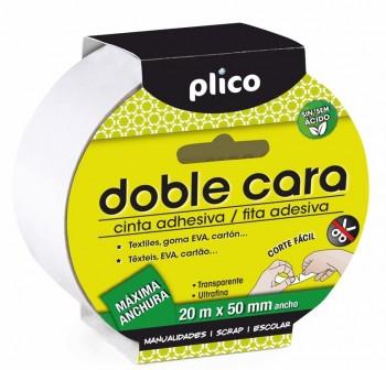 Plico Cinta adhesiva doble cara 50mmx20m