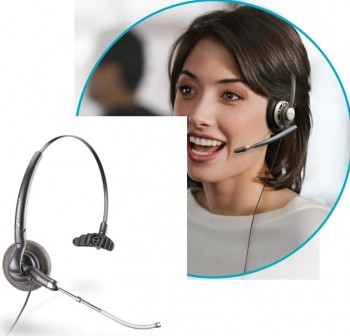 PLANTRONIC Auriculares con cable monoaural duo duoset H141