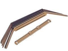 ALLDO Encuadernador fastener metalico dorado 8cm. c-50unds.