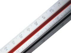 DELI Escalimetro escala 1:100/200/250/300/400/500 30cm.