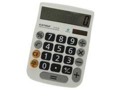 CATIGA Calculadora 8 digitos solar BLANCA