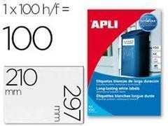 APLI Etiqueta l/c adh.resist. interperie c/recto a4 c-100 (210x297mm 100unds)