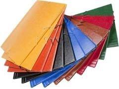 DOSSIER Carpeta folio elastico + solapa ABG carton NEGRO