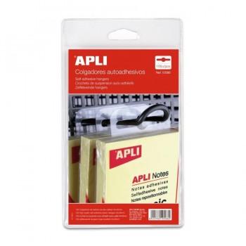 APLI Colgadores autoadhesivos de plastico 34x48mm (100UD)