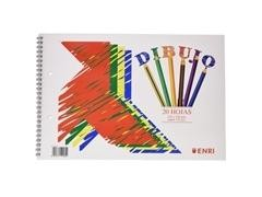 ENRI Bloc dibujo sin margen en espiral