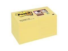 Bloc notas Post-it super sticky 76x127mm amarillo