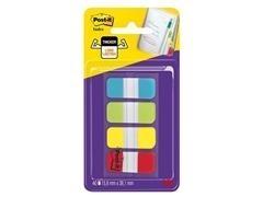 Dispensador Post-it  Index Rígido 15,8 x 38 marcadores (colores agua, lima, amarillo y rojo)