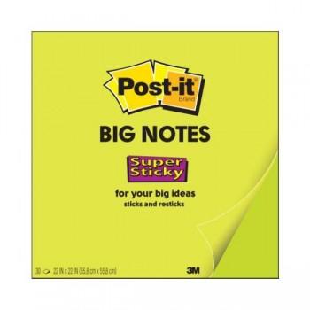 Post-it Bloc 30 hojas Super Sticky Notas Post-it  Gigantes color verde ne n 558x558mm