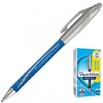 Bolígrafo retráctil Papermate flexgrip elite trazo 1,4mm azul