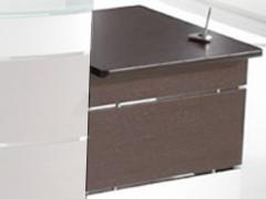 EUROMOF Mostrador mesa recta de atencion 80x79x74 BLANCO