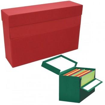 Caja transferencias Elba folio lomo 100mm roja