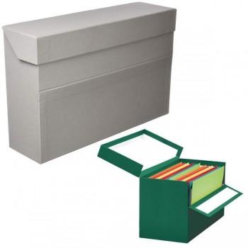 Caja transferencias Elba folio lomo 100mm gris
