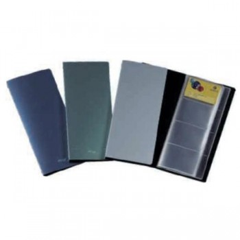 Tarjetero metal style 160 tarjetas 4º gris