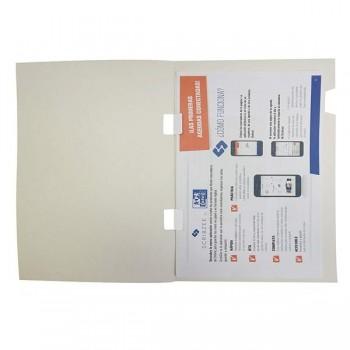 Pack 25 Subcarpetas top-line senior alto brillo A4 blanco