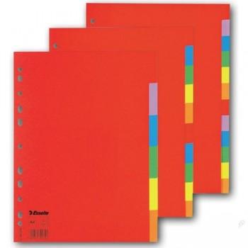 Separador cartón 10h 5 colores A4