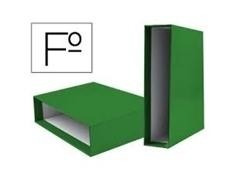 Caja para Archivador unisystem color folio verde