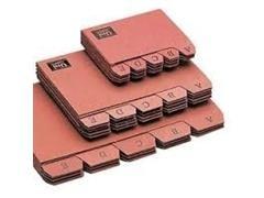 Indice alfabético para Fichero nº1 65x95mm cartón cuero