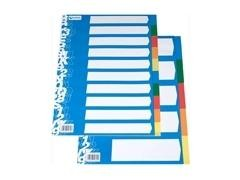 Separador cartón 10h A4 y folio colores suaves
