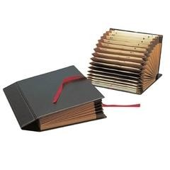 Clasificador acordeon lomo plegable alfanumérico folio azul