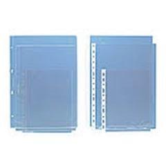 Caja 50 Fundas Portadocumentos PVC 11 Taladros lomo reforzado 4º transparente