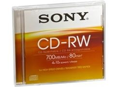 SONY CD-RW 700Mb. 80 minutos 4x/10x