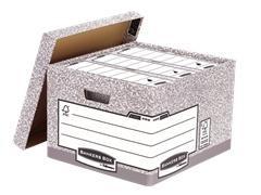 FELLOWES Paquete de 10 contenedores de archivo 287X380X430mm GRIS