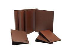 Carpeta 2 anillas 25mm Liderpapel cartón cuero forrado folio