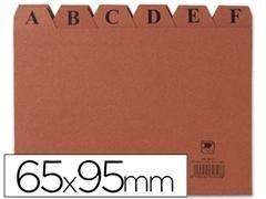 Indice alfabético fichero cartón Liderpapel nº1 6,5x9,5cm