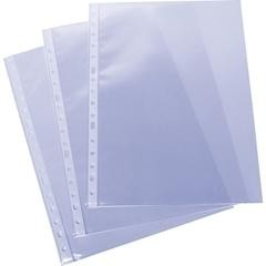Caja 100 fundas portadocumentos pp económica uso esporádico 11 taladros a4 transparente