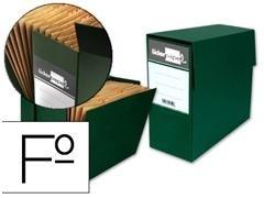 Caja transferencia con fuelle Liderpapel folio verde
