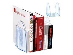 Soporte para libros poliestireno azul transparente