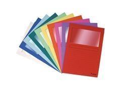 Pack 25 subcarpetas con ventana Exacompta 120gr 22x31cm  colores  surtidos