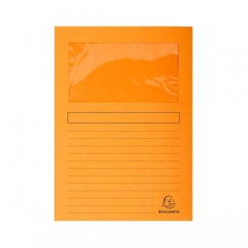 Pack 25 subcarpetas con ventana Exacompta 120gr 22x31cm color naranja