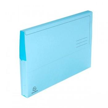 Pack 10 subcarpetas con bolsa Exacompta 220gr 24x32cm color azul