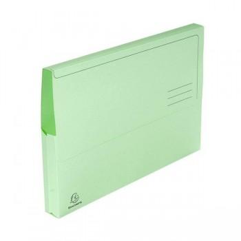 Pack 10 subcarpetas con bolsa Exacompta 220gr 24x32cm color verde