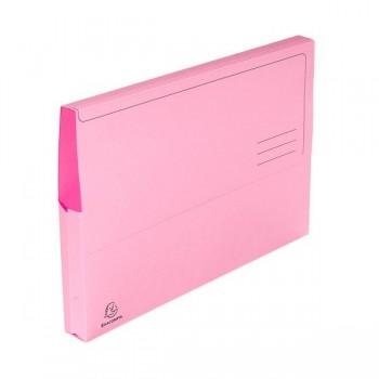 Pack 10 subcarpetas con bolsa Exacompta 220gr 24x32cm color rosa