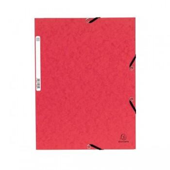 Carpeta con gomas y 3 solapas Nature Future 355gr color rojo