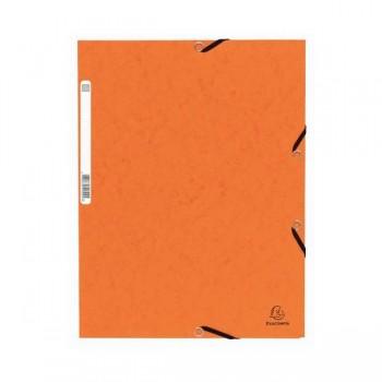Carpeta con gomas y 3 solapas Nature Future 355gr color naranja