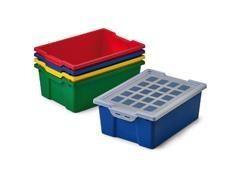 Caja Faibo para almacenaje con tapa 420x310x148 mm colores surtidos