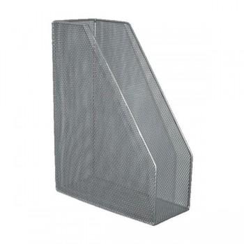 Revistero metálico de rejilla 10x29,5x21,5cm cromado