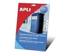 APLI Etiqueta l/c adh.resist. interperie c/recto a4 c-20 (99,1x38,1mm)