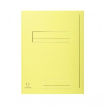 Pack de 50 subcarpetas impresa de cartulina 2 solapas SUPER 250 (210 gr.) amarillo canario
