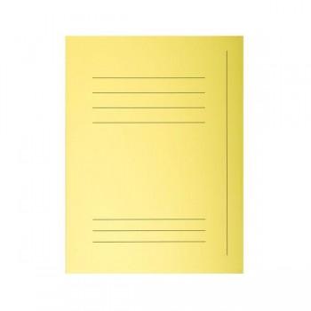 Pack de 50 subcarpeta impresa de cartulina 3 solapas SUPER  210 gr 5 col. Amarillo canario