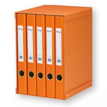 Pardo Módulo 5 carpetas 2 anillas 25 mm naranja