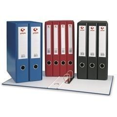Módulo 4 carpetas 2 anillas 25mm folio rojo