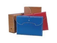 Caja archivo definitivo plástico folio azul