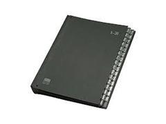 Clasificador 32 departamentos 34X26,5x5cm negro